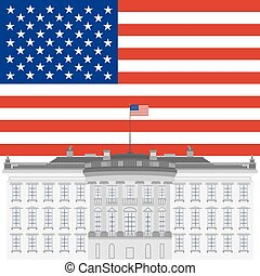 White House and the US flag