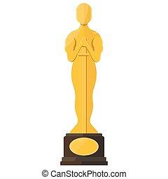 oscar film festival award - Flat vector cartoon...