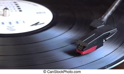 Turntable player. - Turntable player,dropping stylus needle...