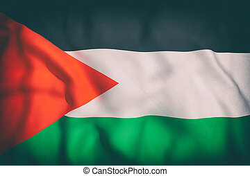 palestine flag - 3d rendering of an old palestine flag...
