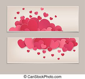Festive background Valentine's Day. Vintage. Template for postcards with many hearts. Vector illustration.