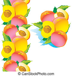 Peach. - Sweet peach on a white background.