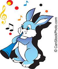 musicien, lièvre