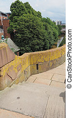 Roman city walls in Chester - vertical - Ancient Roman City...
