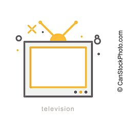 Thin line icons, Television