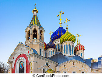 Church of Transfiguration in Peredelkino - Moscow Russia -...