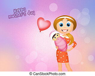 mothers day - illustration of mothers day