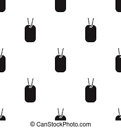 Military tag icon in black style isolated on white background. Weapon pattern stock vector illustration.