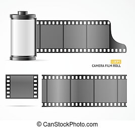 Camera Film Roll Cartrige. Vector - Camera Film Roll...