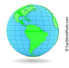 World globe. Isolated