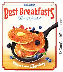 Best Breakfasts Vintage Advertisement Poster - Premium...