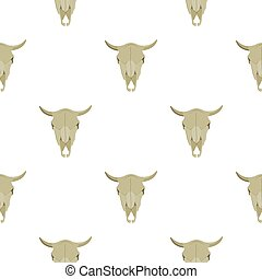 Bull skull icon cartoon. Singe western icon from the wild...