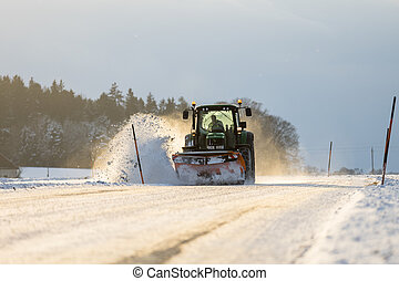 snow clearing - Snow clearing in Austria