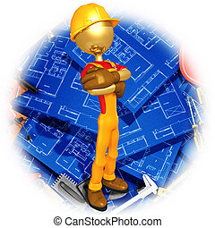 Worker With Blueprints - A Concept And Presentation...