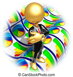Businessman With Business Reports - A Concept And...