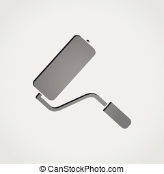 paintroller grey icon - Illustration of paintroller grey...