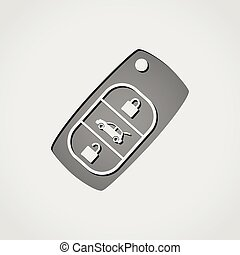 car key grey icon - Illustration of car key grey icon