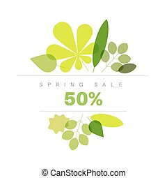 Spring abstract floral background sale label