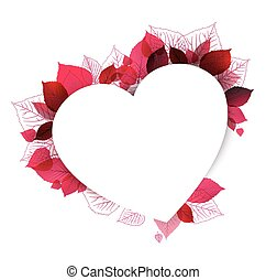 floral heart shape made from leafs