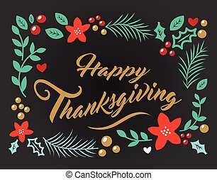vector image thankgiving with ornament