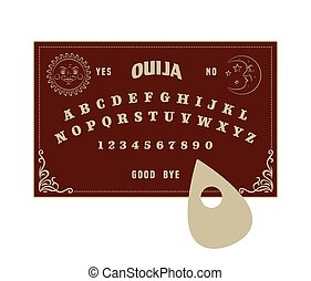 Ouija board, isolated vector graphic illustration art
