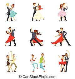Professional Dancer Couple Dancing Tango, Waltz And Other...