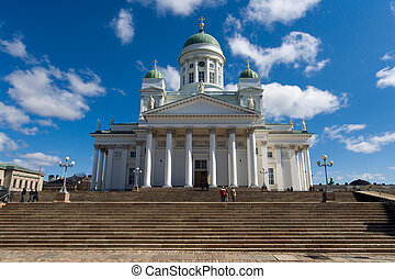 The Lutheran Cathedral in Helsinki, Finland - The impressive...