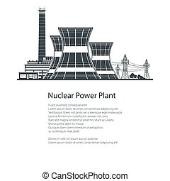 Nuclear Power Plant , Poster Brochure Design - Silhouette...