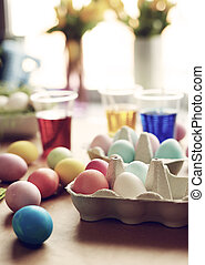 Dyeing eggs brings you back to the childhood
