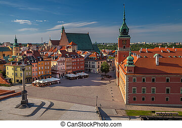 Warsaw. - Cityscape image of Old Town Warsaw, Poland during...