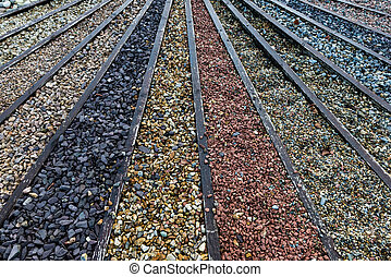 Various types of stone and gravel pebbles for garden...