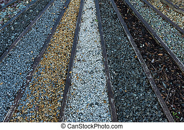 stone and gravel pebbles - Various types of stone and gravel...