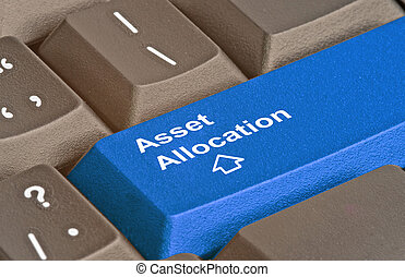 Keyboard with key for asset allocation
