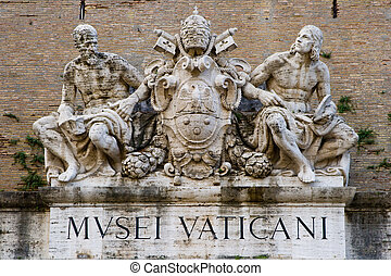 Sculpture on the Museums of Vatican. Rome, Italy