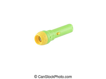 Toy flashlight. Isolated.