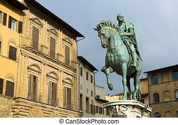 Statue of Cosimo I de' Medici by Giambologna, Florence,...