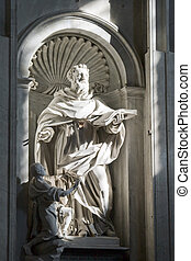 Sculpture inside St. Peter's Basilica in Rome, Italy