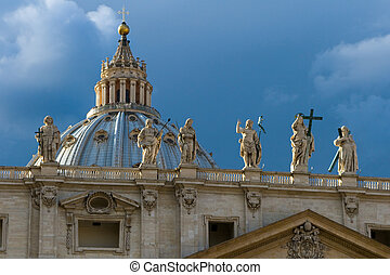 Michelangelo\'s Dome With Statues