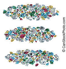 Color gems  isolated