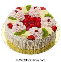 blanco, aislado, pastel