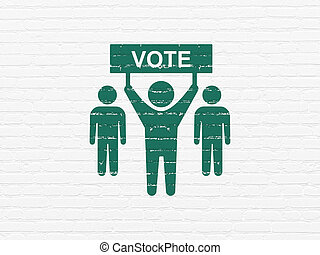 Political concept: Election Campaign on wall background -...