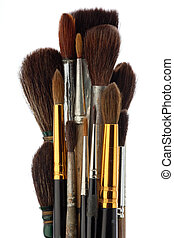 A set of brushes of the artist - A set of watercolor brushes...