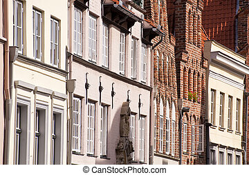 luebeck - architectural detail in luebeck / germany