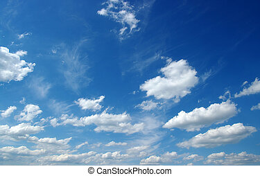 white clouds - blue sky background with white clouds