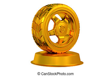 Sport Wheel Golden Trophy