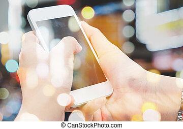 Communication technology - People Using a Smart Phone...