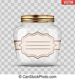 Glass Jar for canning with label - Glass Jar for canning and...