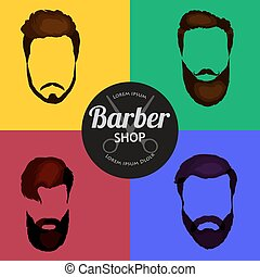 Barber Shop or Hairdresser background set with hairdressing...