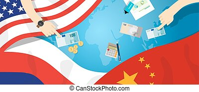 America USA Russia China relation international business...