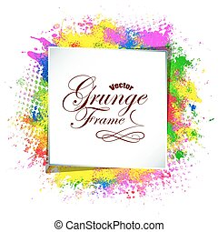 Abstract background, grunge frame